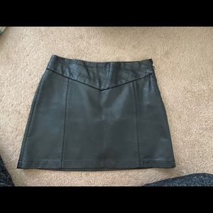 Black Faux Leather Zara Skirt
